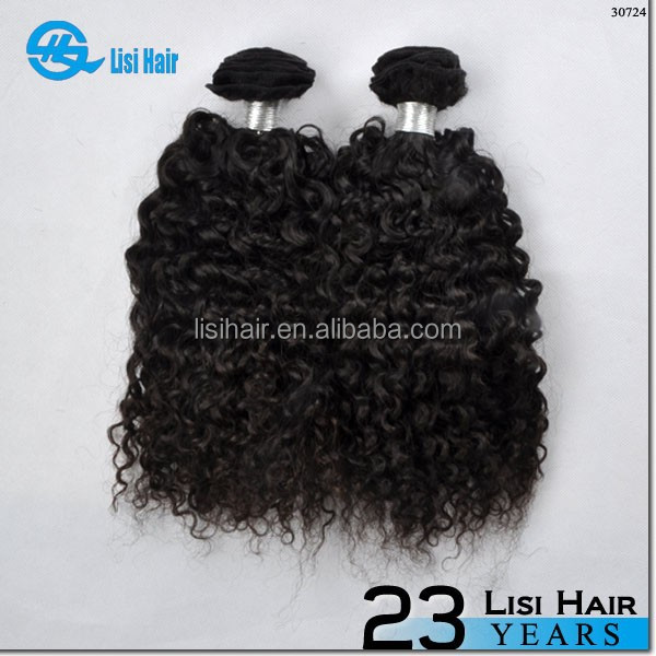 New <strong>Beauty</strong> Hot Sale In 2015 Big Large Unprocessed Shedding Free 100% Virgin bushy curly