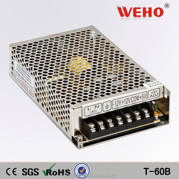 HOTSALE 60W Triple output switching power supply 12 volt 2.5a adapter