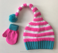 Lovely chunky guage ele Christmas hats and mittens for kids
