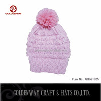 Hot selling Lady Pink Warm Hats to Decorate