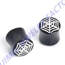Horn Stretcher Plug 10mm oo Gauge spiders Web Tribal Earring Body Jewelry