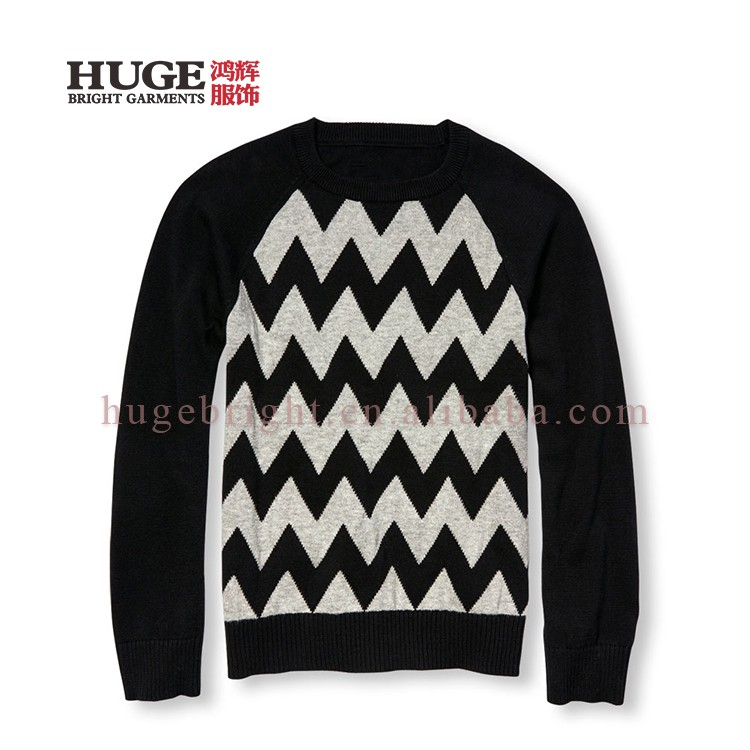 Boy's Wave Knit 100% Cotton Latest Knitting Sweater Designs For Boys