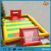 Airtight inflatable football pitch for sports competition