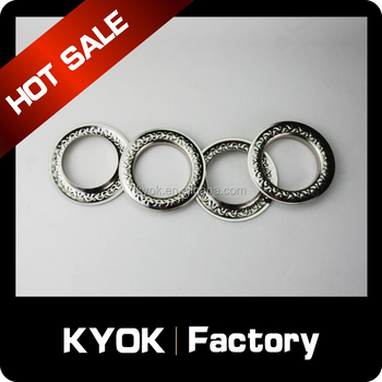 KYOK new iron curtain eyelets, home decorative curtain eyelet,durable cur eyelet