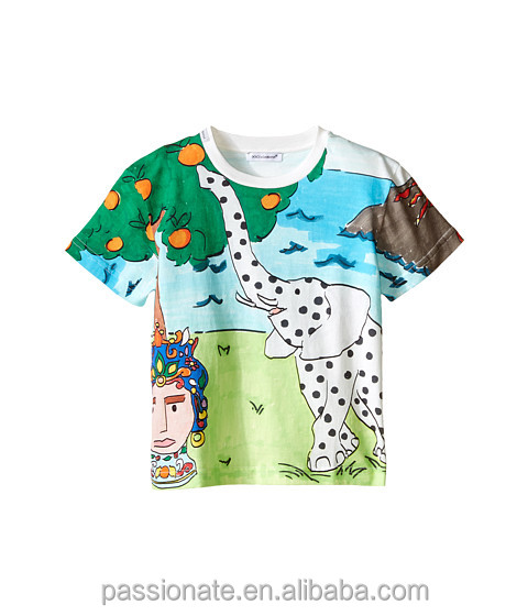 sublimation printed t shirt custom made t shirts for kids