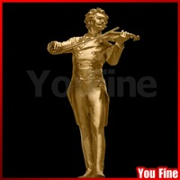 Music Artists Johann Strauss Famous Violin Life Size Bronze Sculpture