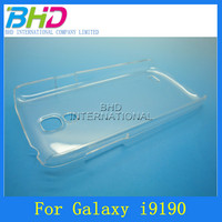Transparent crystal plastic hard protective clear case for samsung Galaxy S4 Mini i9190