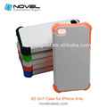 3D 2 in 1 Sublimation Case For iPhone4/4S