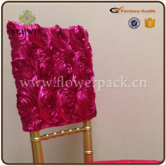 hot sale fancy wholesale polyester spandex hotel banquet wedding rosette chiar cover for wedding