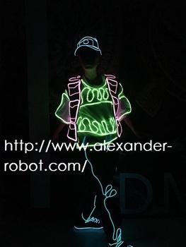 Led Dance Wear Men Luminous Clothing EL Wire LED Light Pants Dance ...