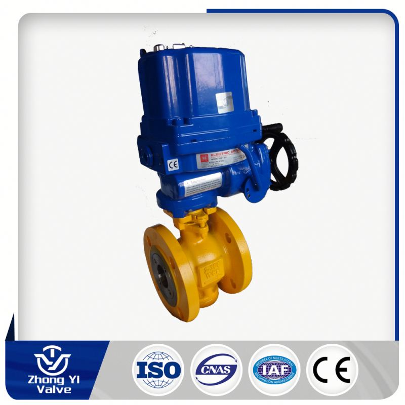 Blot-out proof stem control temperature electric stainless steel ball valve