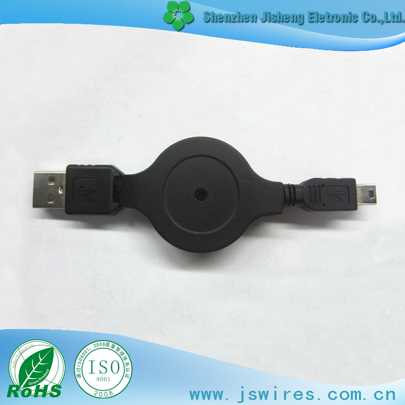 Customized USB AM to Mini 5P Data Transmission Connecter Adapter