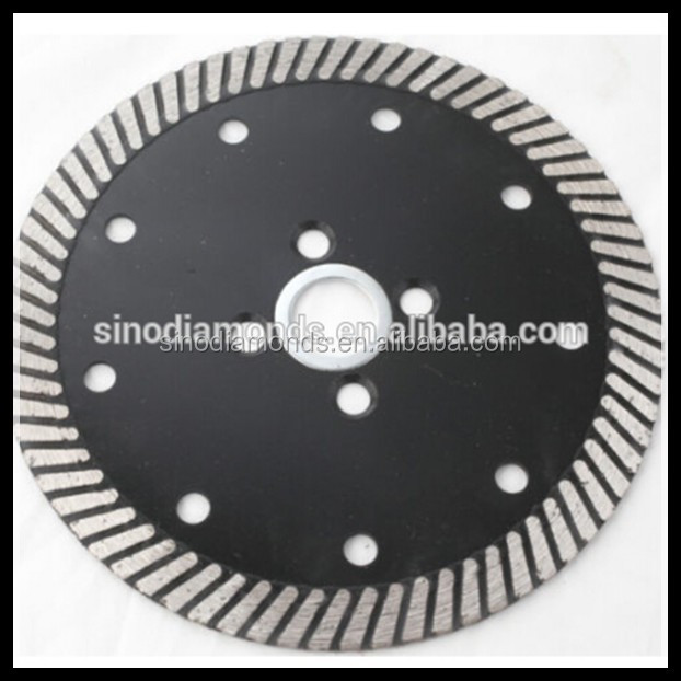 Dry use Turbo Diamond saw blade with cooling holes for granite and marble