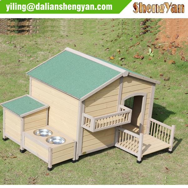 Wooden Puppy Room Indoor & Outdoor Shelter Wood