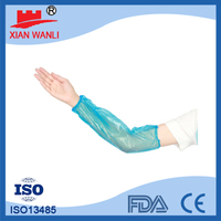 hot selling high quality machine made disposable PE arm sleeves, protective arm sleeve