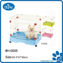 Large and colorful metal cage for pet