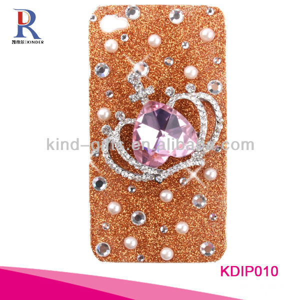 DIY bling crystal spiderman design mobile phone cases KDIP048