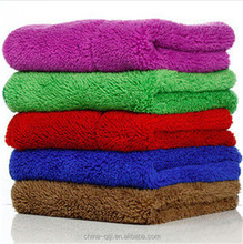 double sided plush microfiber printed towel