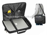 Large Lightweight Water Repellent Polyester Computer Briefcase for Up To 17.3 Notebook PC
