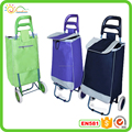 2015 personal metal shopping cart, shopping trolley/polyester PVC coated shopping trolley bag