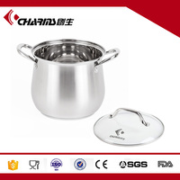Chuangsheng 9L Belly Shape Cooking Pot With Tempered Glass Lid
