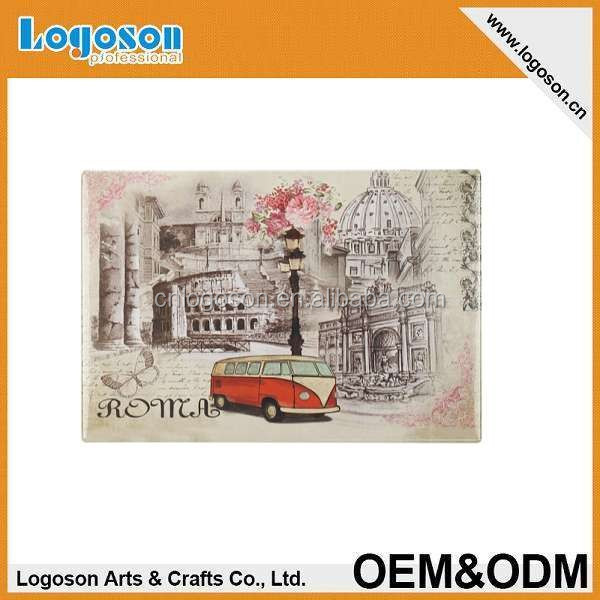 2015 hot tourist gift custom photo tin magnet souvenir roma