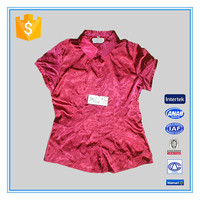 Blouse Designs For Office Neck Embroidery Lady Satin Fabric