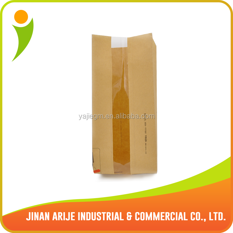 Window Hamburger Packaging Bag/ Bread Packaging bag