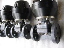 Acid valve pneumatic pvc rubber lined diaphragm valve