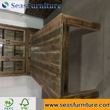 Top Quality wooden office desk with side table for wholesale