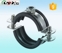 stell galvanized rubber rod clamp