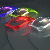LED Mouse Ultra Thin Lightweight Transparent