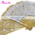 Handmade Cotton Battenburg Lace Hand Fan Wedding 20cm
