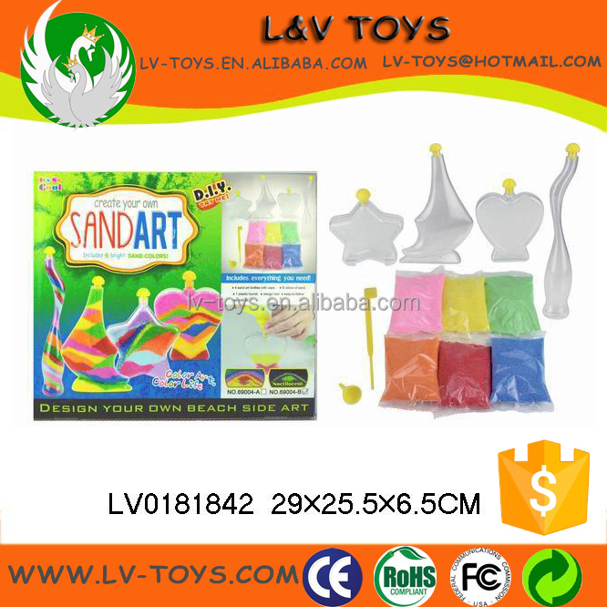 Colorful bottles painting toys noctiluca sand art