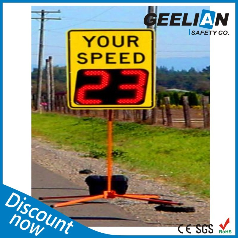 Car Speed Radar Detector / Solar Powered Radar Speed Sign / Led Speed Limit Sign