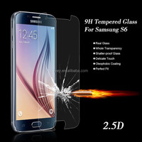 Tempered Glass For Galaxy S6 9H Premium Real Screen Protector Film Guard for Samsung S VI G9200 G9208 G9209 with Retail Package