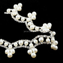 Flatback rhinestone pearl trim for shoes accessories