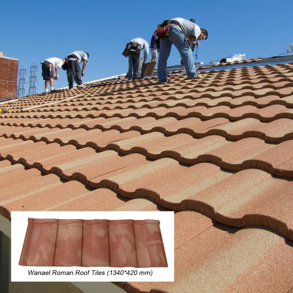 sun stone coated metal roof tiles manufacturer