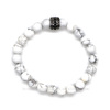 Modern trendy bead Jewelry Nature stone howlite men bead bracelet
