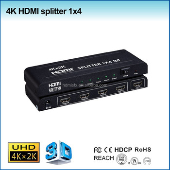 New product 1.4 1x4 TV splitter HDMI splitter 1 in 4 out with 4k