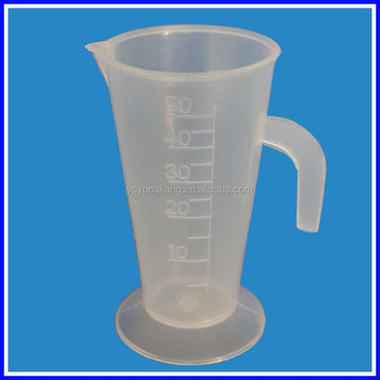 plastic measuring graduate with handle lab plasticware