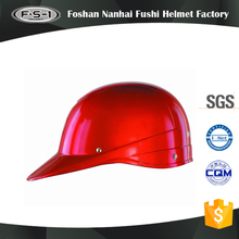 Red color DOT approved half face scooter helmets for flit up helmet motorcycle