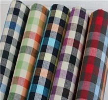 Fashion Polyester Cotton Shirting fabric Wholesale Plaid Shirt Fabric