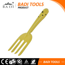 yellow hot sale steel mini garden fork for digging