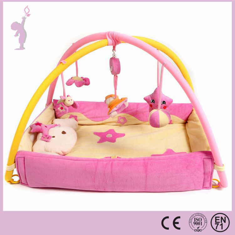 2016 Hot Cheaper Safety Baby Play Mat With Sides Cotton Baby Play Gym activity Mat Baby Play Mat