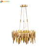 New products modern style gold LED beautiful chandelier