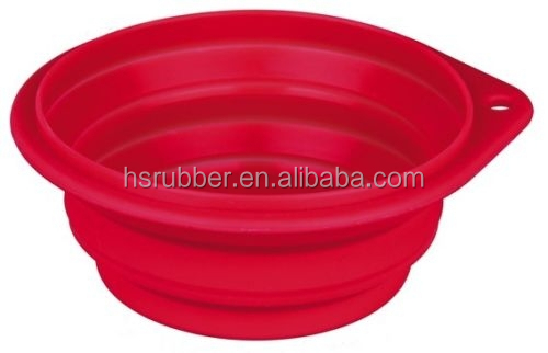 Hard-wearing Silicone Collapsible Pet Dog Travel Walking Bowl 4 Sizes,eco-friendly collapsible silicone bowl for pet