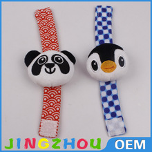 wholesale cute animal designs infant toy plush baby rattle
