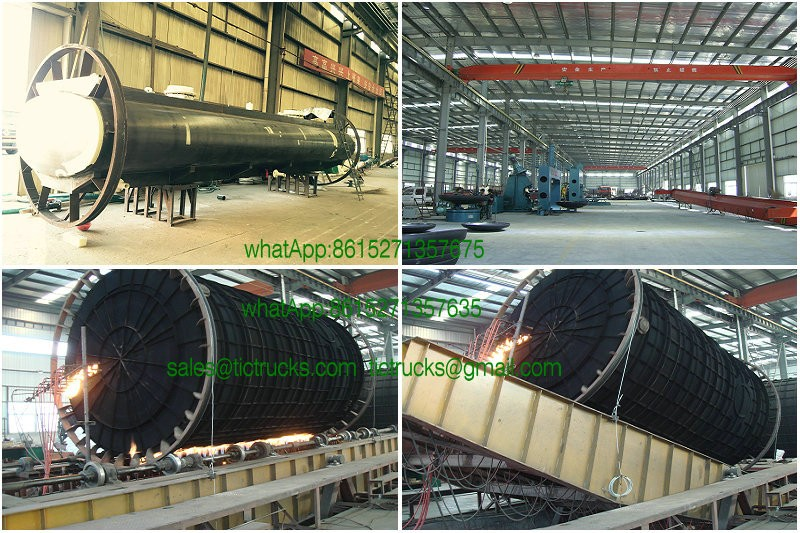 To Veinam Acid tank Truck upper tank body steel lined LDPE /plastic lining 15000L~16000L