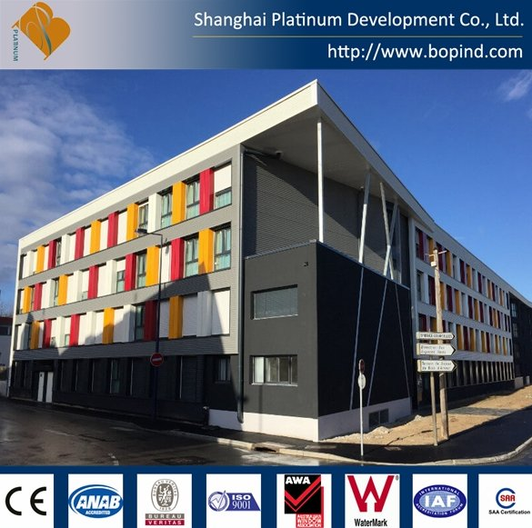 Steel Frame Prefabricated Housing, Modular Container for Students